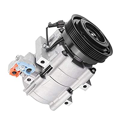 AC Compressor, Durable Air Conditioning Compressor for Hyundai Santa Fe V-6 2.7L 2001-2006 Vehicle Replacement Accessories Easy to Install 5512440 CO 10957SC