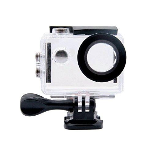TEKCAM Action Camera Waterproof Case Compatible with AKASO EK7000/EKEN H9R/FITFORT 4K/DBPOWER EX5000 Sports Camera Underwater 30M Protective Housing Case