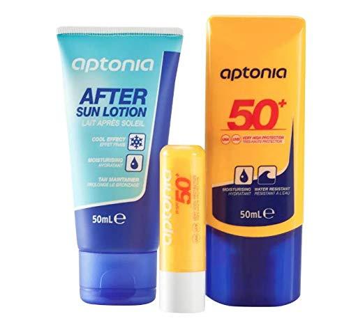 Kit de Protección Solar - Crema Solar IP50+ 50 ml, Lápiz de Labios IP50+ y Leche After Sun 50 ml