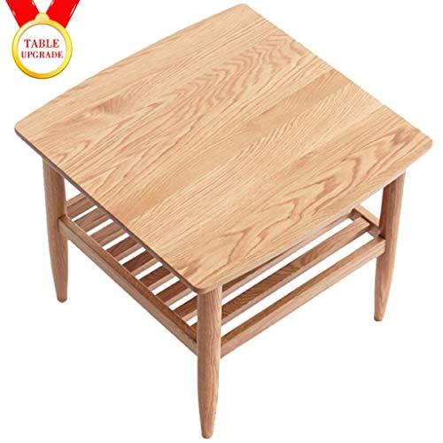 HYJBGGH Koffietafel, kleine salontafel, nachtkastje, zijtafel, industrieel massief hout, kleine salontafel, moderne minimalistische lamptafel, nachtkastje, kleine huishoudbank