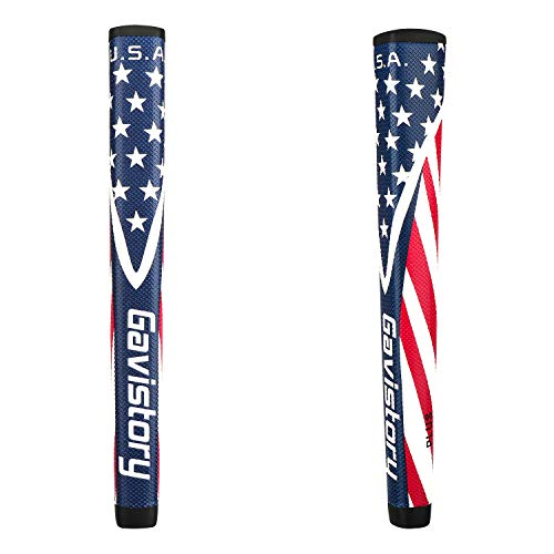 Gavistory USA Golf Putter Grip - Tacky Polyurethane Material,Moderate Feedback,More Comfortable (Plus)