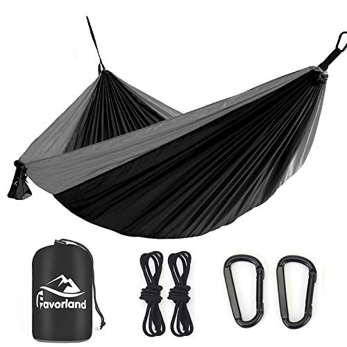 Favorland Camping Hammock Double & Single with Tree Straps for Hiking, Backpacking, Travel, Beach,...