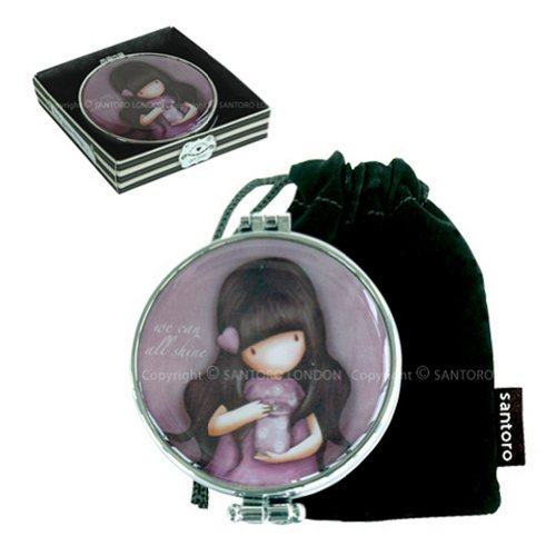 'We Can All Shine' Compact Pocket Handbag Mirror by Gor-juss