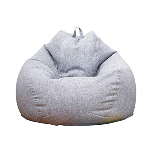 BABYCOW Without Filler Multifunctional Lazy Sofa Cover, Suitable for Outdoor Living Room Bedroom Balcony Made Fine Cotton Linen Fabric,Light Gray,S,Sofa Sets