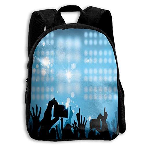 ADGBag Lighting and Cheer Crowd Silhouette Children's Backpack Kids School Bag with Adjustable Shoulders Ergonomic Back Pad Perfect for School Security Sporting Events Kinderrucksack Rucksack