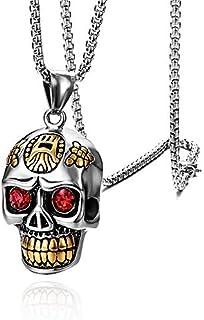 Titanium Steel Skull Men's Necklace Punk Style Pendant Necklace