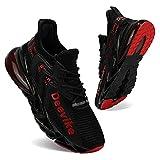 Zapatillas Deportivas de Mujer Zapatos Mujer Calzado Deportivo de Exterior de Mujer para Correr Zapatillas Casual Sneakers Negro Rojo-39