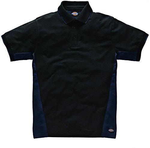 Dickies zweifarbiges Polo Shirt marineblau/schwarz NVBXL, SH2004