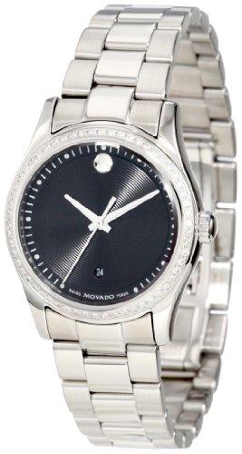 Movado Museo 0606498Movado Sportivo Acero Inoxidable Bisel Diamante de la Mujer Dial Reloj
