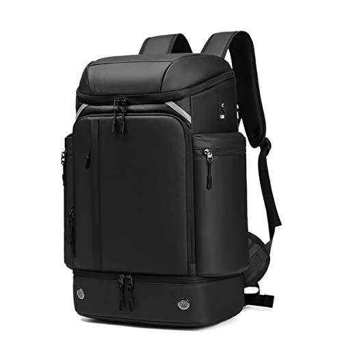 mochila escalada, mochila trekking resistente al agua y rip stop, mochila senderismo gran capacidad45l, comodidad, diseño de interfaz de orificio, para ciclismo, viajes, escalada, montañista, depor
