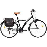 "Moma Bikes Bicicleta Trekking / Paseo  HYBRID 28"", Alu, SHIMANO 18V, Susp. Delant."