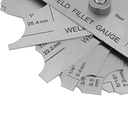 Stainless Steel Welding Gauge,Welding Gauge Gage Test Ulnar Welder Inspection Gauge Both Inch and Metric,Fillet Weld Gauge Photo #4