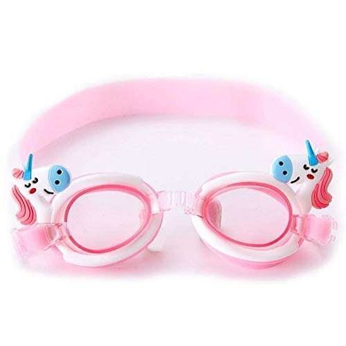 YCRCTC Gafas de natación for los niños de Dibujos Animados Lindo de Buceo Gafas de natación contra la Niebla Infantil Surf Gafas Niño Niña Reducir el deslumbramiento (Color : Pink White)