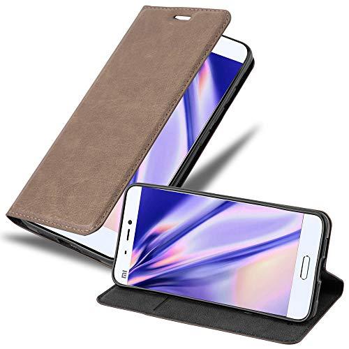 Cadorabo Custodia Libro per Xiaomi Mi 5 in BRUNO CAFÉ - con Vani di Carte, Funzione Stand e Chiusura Magnetica - Portafoglio Cover Case Wallet Book Etui Protezione