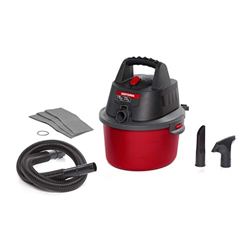 CRAFTSMAN CMXEVBE17250 2.5 Gallon 1.75 Peak HP Wet/Dry Vac, Portable Shop Vacuum with Attachments and Additional Filter Bags