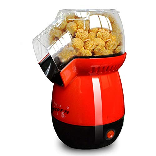 Best Prices! Mini Hot Air Popcorn Maker, No Oil Popcorn Popper Machine with Removable Top Cover and ...