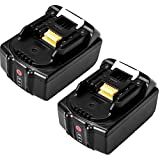 18V 5.0Ah Batterie Makita Remplacement Batterie pour Makita outil BL1830 LXT-400 BL1840 Avec voyant lumineux BL1860 BL1890 BL1815 BL1825 BL1835 BL1845 Perceuses sans fil Batteries (2 pièces)