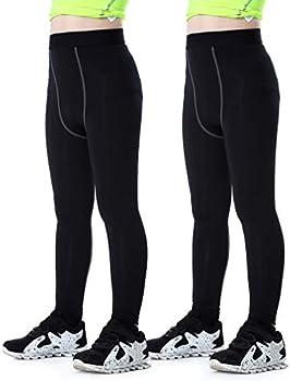 2-Pack Tesuwel Boys & Girls Compression Leggings