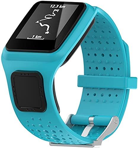 Classicase Correa de Reloj Compatible con Tomtom Multi-Sport/Runner, Silicona Correa Reloj con Acero Inoxidable Hebilla desplegable (Pattern 1)