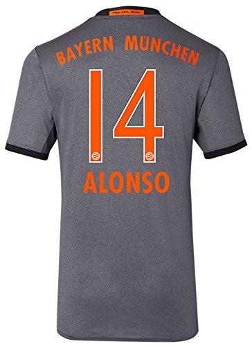 Trikot Adidas FC Bayern München 2016-2017 Away (Alonso 14, 140)