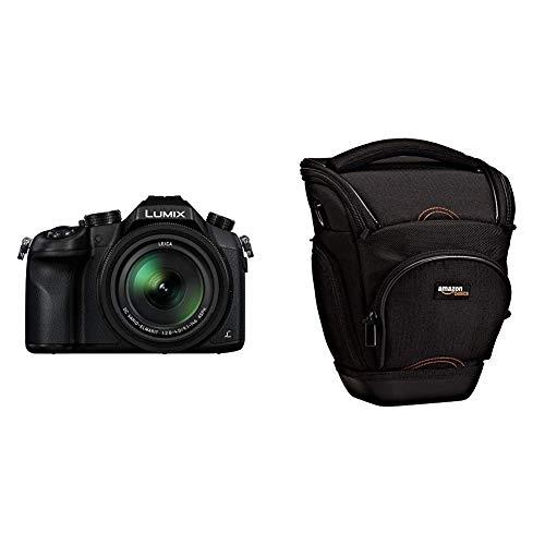 Panasonic LUMIX DMC-FZ1000EG Premium-Bridgekamera (20,1 Megapixel, 16x opt. Zoom, opt. Bildstabilisator, LEICA DC VARIO-ELMARIT Objektiv, 4K Video) schwarz & Amazon Basics SLR-Schultertasche (schwarz)