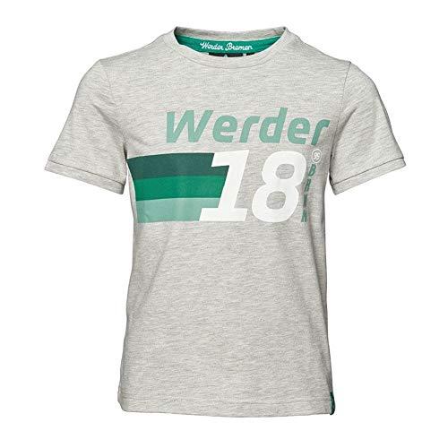 Werder Bremen - Camiseta infantil, Todo el año, Redondo, Hombre, color gris, tamaño 14 años