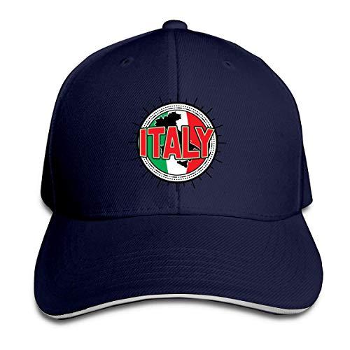 N / A Twill Cap Italien Karte Flagge Unisex Hüte Trucker Hüte Papa Baseball Hüte Driver Cap Idee Tennis Golf Kappe Klassische Baseballmütze Für Herren Damen