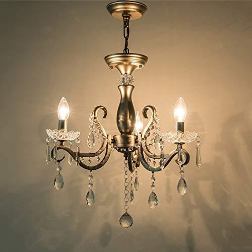 Zenghh Silver cepillado candelabro araña k9 cristal lámpara de borla lámpara de cristal decoración franja decoración techo colgante ligero americano rural pared externo muebles de colgante para sala d