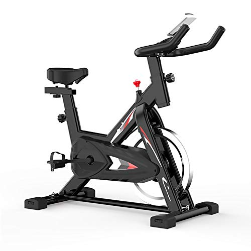 YPSM Cyclette Indoor,Silenziosa Regolabile Bicicletta Ellittica 6kg Volano Bici Fitness Casa Ufficio Palestra Formazione-Nero 100x50x106cm(39x20x42inch)