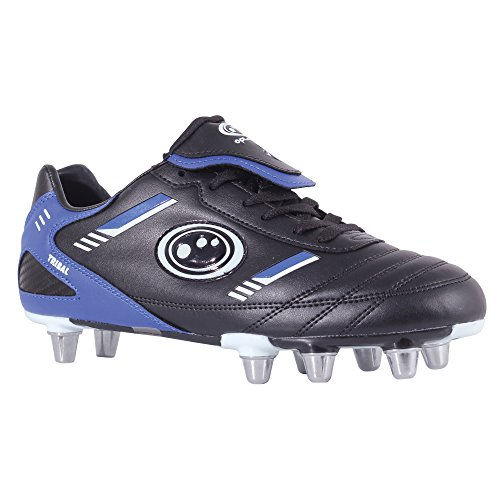 Optimum Rugby Boot Tribal - Black Blue - 11