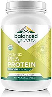 Raw Vegan Pea Protein Powder – 20 g. of Certified-Organic, Plant Based Protein Powder with BCAAs and Iron Known to Boost E...