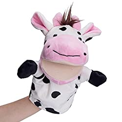 Cow Plush Animal Hand Puppet