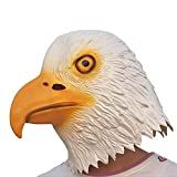 Party Story Eagle Mask Halloween Cosplay Costume Latex Animal Head Masks for Adults Party Decoration Props