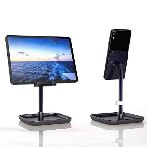Soporte de tableta ajustable Ajuste en vivo Telescópico Tableta Tablet Soporte de escritorio Compatible con varias tabletas (Color: Rosa, Tamaño: Un tamaño) ZDWN ( Color : Black , Size : One Size )