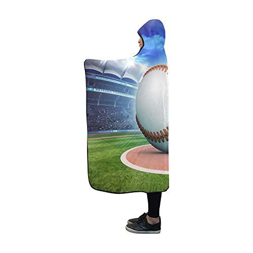JOCHUAN Mit Kapuze Decke Baseball Ball Stadion Bewegungsunschärfe Sportdecke 60x50 Zoll Comfotable Mit Kapuze werfen Wrap