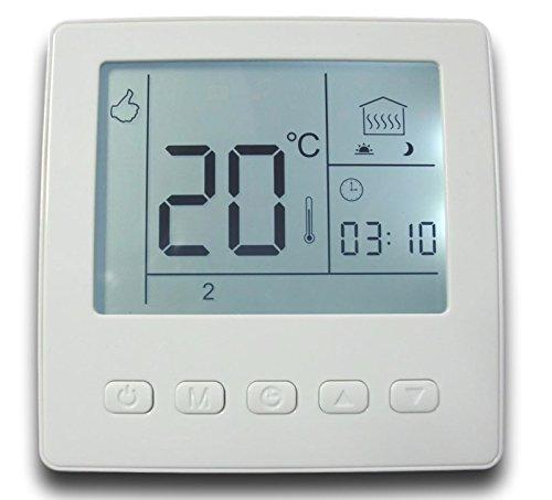 SM-PC®, Raumthermostat Thermostat programmierbar Digital weißer Rahmen #857