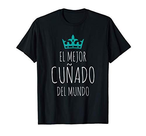 Hombre El Mejor Cuñado del mundo Súper regalo Día del Padre Camiseta