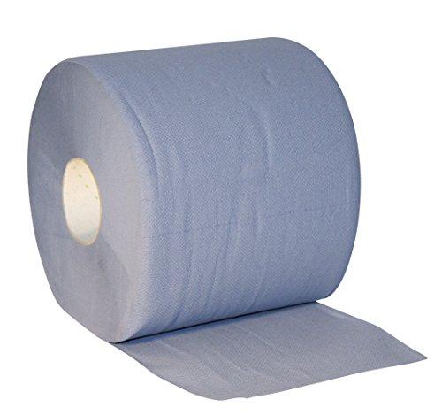 Kerbl 29562 Papiertuchrolle blau, 3-lagig, 2 x 500 Blatt