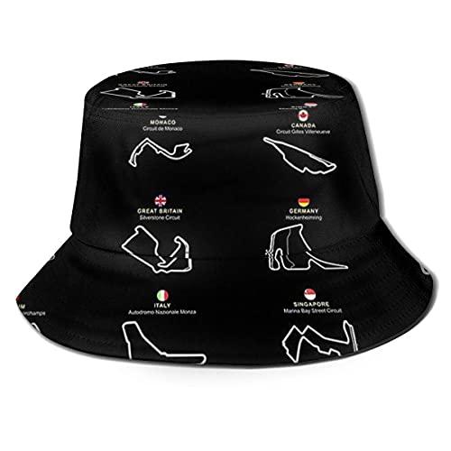 XCNGG The Map ofGorra de Playa Unisex Summer Sun Bucket Hat