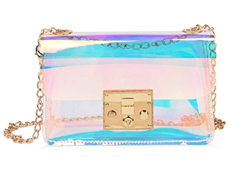 Mini Hologram Clear Cross Body Purse Shoulder Bag Handbag for Women (Style A)