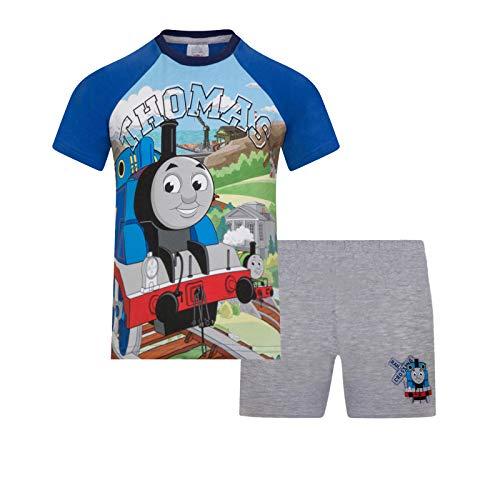 Thomas, die Kleine Lokomotive - Jungen Schlafanzug - kurz - Offizielles Merchandise - Geschenk für Kleinkinder - 3-4Jahre