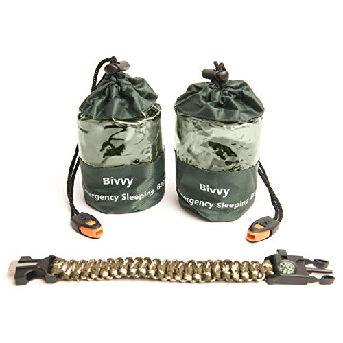 Bivy Sack Emergency Sleeping Bags Compact and Lightweight.Use as...