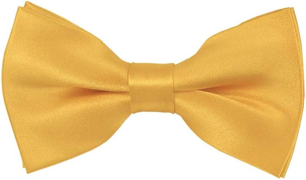 Solid Honey Gold Men's Pre-Tied Bow Tie