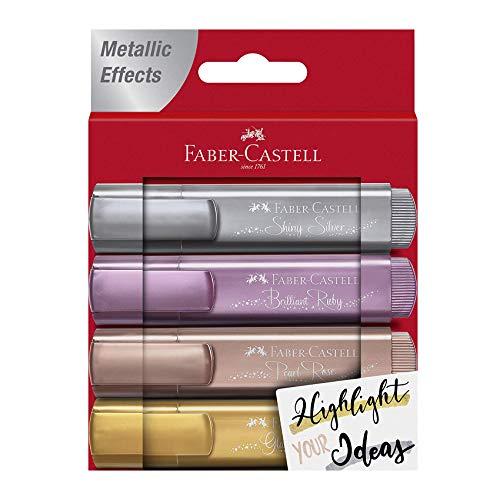 Faber Castell 154640 Rotulador Fluorescente, Color metálico, 1,6 x 11,8 x 15,2 cm (FC154640)