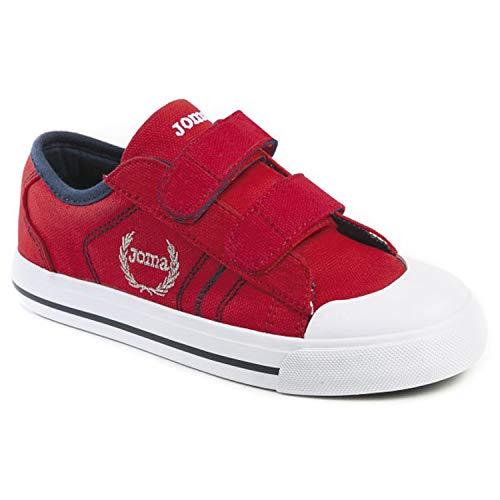 Joma Scarpe DI Tela Junior C_Revel 906V Rosso Con Velcro