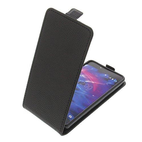 foto-kontor Tasche für MEDION Life X5020 Smartphone Flipstyle Schutz Hülle schwarz