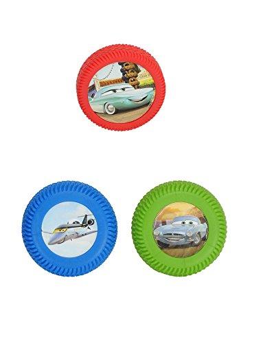 Dickie-Spielzeug 203089515 Disney Cars 2 Crash The Cones! - Juego de 3 neumticos de Juguete con 4 Conos, Modelos Surtidos