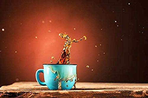 Christmas Wooden Jigsaw Puzzle 1000 Piece - Coffee Cup Pattern for Teenagers and Adults Very Good Educational Game 75X50Cm