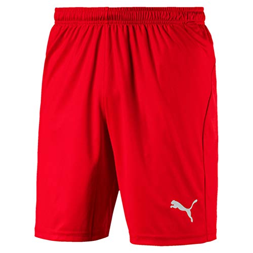 PUMA Herren Liga Shorts Core Red White, L