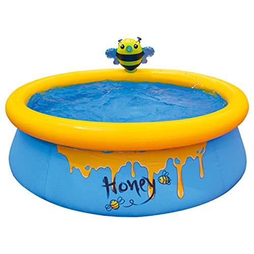 D/L El Parque acuático Inflable más Nuevo, Piscina con rociadores de patrón Lindo, Alfombrilla de Juego portátil para Nadar al Aire Libre, Almohadilla para Salpicaduras para niños pequeños